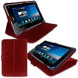 Schutzhülle/Tasche, von LuvTab mit Aufsteller Funktion, Rot, für 7-Zoll Tablet - Acer Iconia B1, LENOVO IdeaTab A2107, Yarvik GoTab, Disgo Busbi