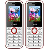 I KALL K18 Dual Sim 1.8 Inch Display Mobile Combo Of Two- Red: White
