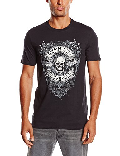 Avenged Sevenfold - Stars Flourish, Short sleeve da uomo, nero (black), L