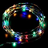 Eastchina® Newest Version 3m 10ft 4.5v Micro Led 30 Super Bright Leds Mini Silver Wire Fairy Light String Aa Battery Operated - Ultra Thin String Wire Potted Plants LED Lights Strings for Valentine's Day Christmas Party Decoration Wedding Birthday Festival Kid's LED Gift New Year Ornaments Wall Door Decor Flexible 10 Ft Copper Wire Battery Operated 30 LED Lamps String Lights - Multi-color