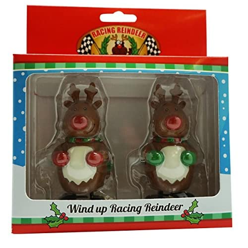 racing wind-up reindeer