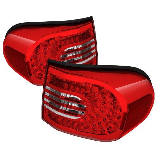 Spyder Auto (Alt-Cl-Tfj07-Led-Rc) Toyota Fj Cruiser Red/Clear Led Tail Light - Pair