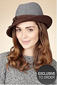 Twiggy for M&S Woman Pure Wool Two Tone Trilby Hat
