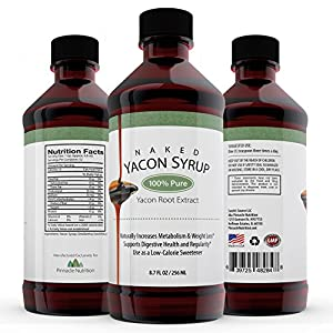 100% Pure, Real Yacon Syrup - Highest Verified FOS Percent On Amazon, 8.7 fl. oz! Don't Waste Money on Fake Syrup! Our Yacon Syrup Boosts Metabolism, Increases Regularity & Helps Regulate Blood Sugar - Love It, Or Get Every Penny Back!