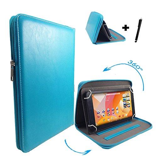 "Huawei MediaPad 10 FHD 3G 25,4 cm / 10.1 "" Tablet Pc Tasche mit 360 grad Drehfunktion - 10 Zoll Türkis 360° Reißverschluss"