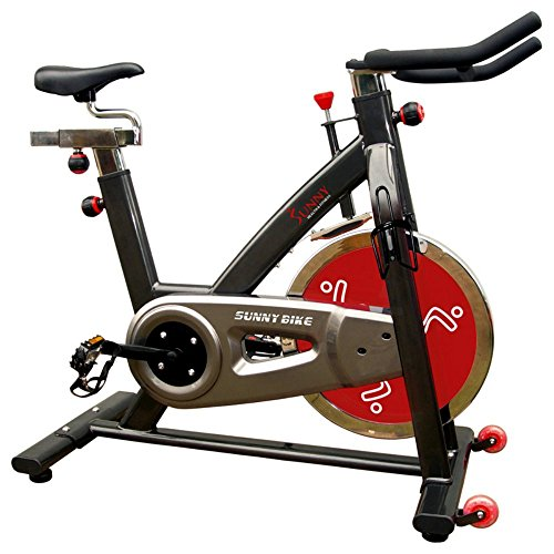 Sale!! Sunny Health & Fitness Indoor Cycle Trainer - 49 lb. Flywheel