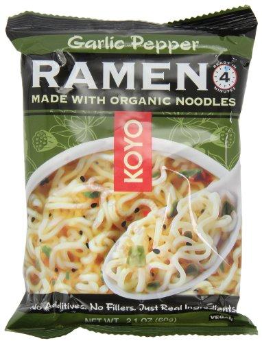 Koyo Garlic Pepper Ramen, 2.1-Ounce (Pack of 12)
