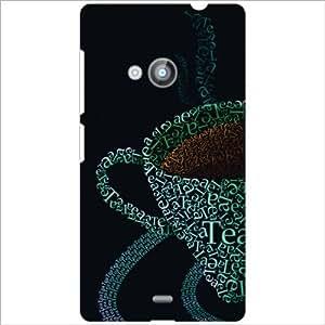 Nokia Lumia 535 Back Cover - Coffee Designer Cases