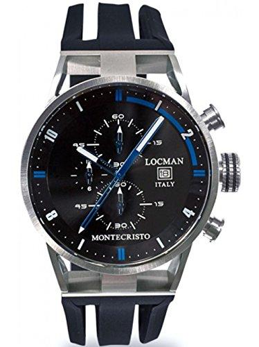 Locman montre homme chronographe Montecristo 051000BKFBL0GOK