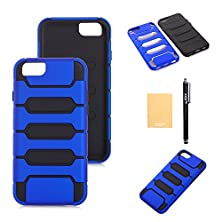 "buy Xiqi(Tm) Armour Design Armor Defender Case Cover For Iphone 6 Plus (5.5""),With Screen Protector,Free Stylus,Cleaning Cloth Zmkj Dark Blue"