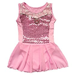 BHL Girls Leotard Dancing 3-12 Years Cosplay (5-6, Pink)