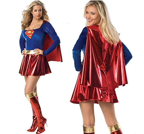 Kamat® Halloween superman costume adult Game Cosplay Uniforms Temptation Suit