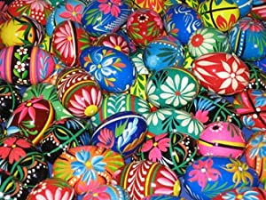Assortment of Handmade Pysanky (Pisanki) Polish Wooden Eggs (13)