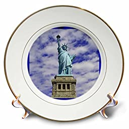 3dRose cp_21669_1 Statue of Liberty Porcelain Plate, 8\