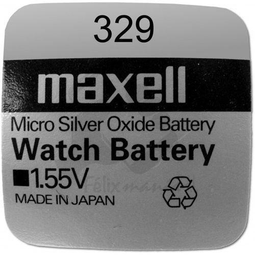 10 X PILE Maxell Batterie Originale 1,55 V Pile 329 SR0731SW Boutons Oxyde D'argent Maxell Livraison 48/72H Felixmania®