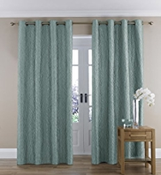 Organic Wave Design Eyelet Curtains