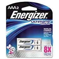 e² Lithium Batteries, AAA, 2 Batteries/Pack