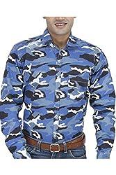 Unixx Men's Casual Shirt (UXXS-36_Blue_40)