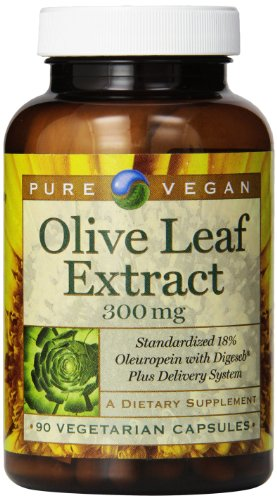Pure Vegan Olive Leaf Extract Vegetarian Capsules, 300 Mg, 90 Count (Pure Olive Leaf Extract compare prices)