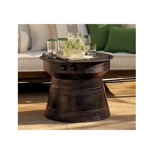 Amazon Com Pottery Barn Frog Rain Drum Accent Table