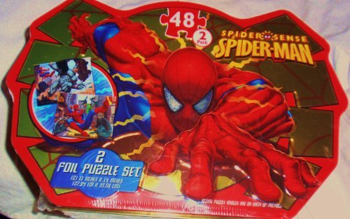 Spider Sense Spiderman Foil Puzzle, 2 Pack in Tin by Marvel - 1