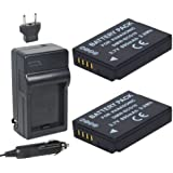 Newmowa DMW-BCG10 Battery (2-Pack) and Charger kit for Panasonic DMW-BCG10, DMW-BCG10E, DMW-BCG10PP and Panasonic Lumix DMC-3D1, DMC-TZ6, DMC-TZ7, DMC-TZ8, DMC-TZ10, DMC-TZ18, DMC-TZ19, DMC-TZ20, DMC-TZ25, DMC-TZ30, DMC-TZ35, DMC-ZR1, DMC-ZR3, DMC-ZS1, DMC-ZS3, DMC-ZS5, DMC-ZS6, DMC-ZS7, DMC-ZS8, DMC-ZS9, DMC-ZS10, DMC-ZS15, DMC-ZS19, DMC-ZS20, DMC-ZS25, DMC-ZX1, DMC-ZX3