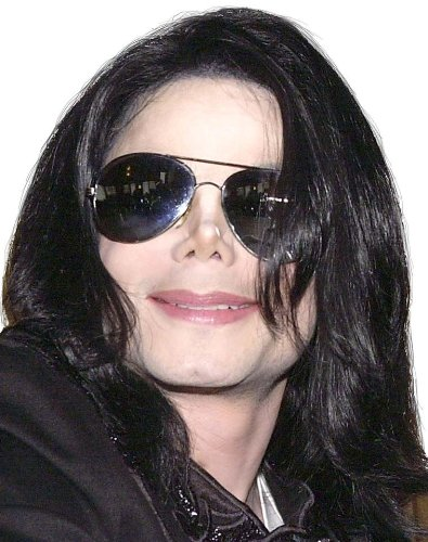 Michael Jackson Long Straight Wig and Glasses - 1