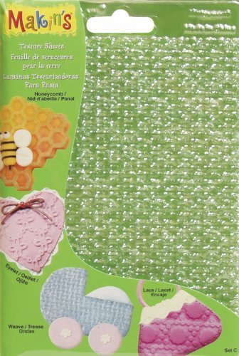 Makin's USA Clay Texture Sheets, 7-Inch by 5-1/2-Inch, Honeycomb/Eyelet/Weave/Lace, 4 Per Package by Notions - In Network