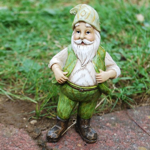 Frank the Carved Wood Effect Standing Resin Garden Gnome Ornament