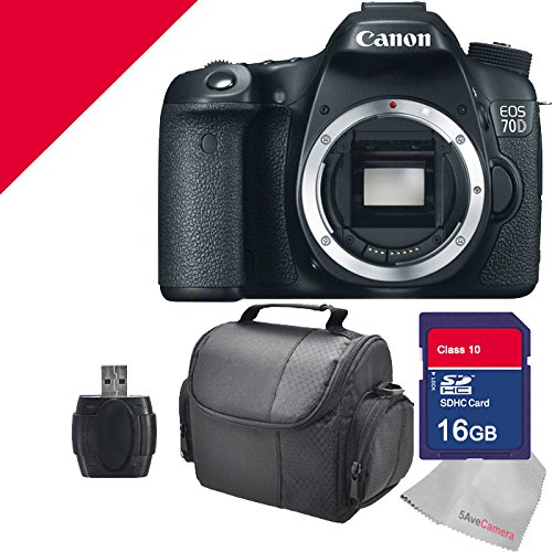 Canon EOS 70d Body with 16gb Sd Memory Card and Camera Case with 5avecamera Package