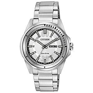 Citizen Men's AW0031-52A Drive from Citizen HTM Analog Display Japanese Quartz Silver Watch