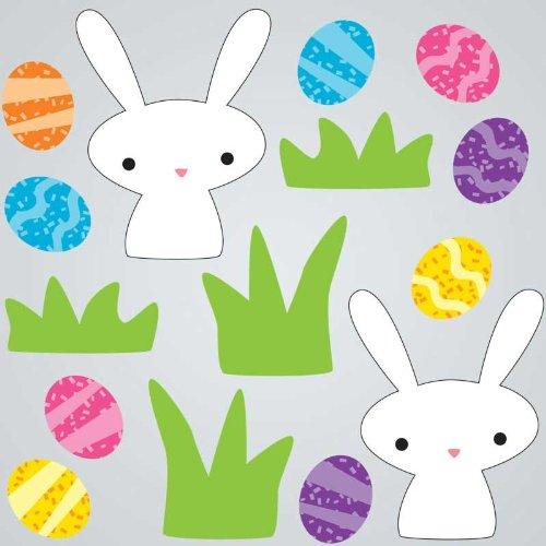 GelGems Rabbits & Eggs Large Bag Gel Clings - 1