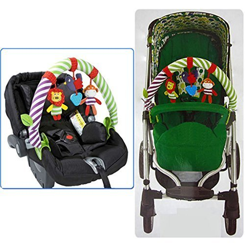 baby stroller mobile musical animal doll rattles clip toy baby toys zone. Black Bedroom Furniture Sets. Home Design Ideas