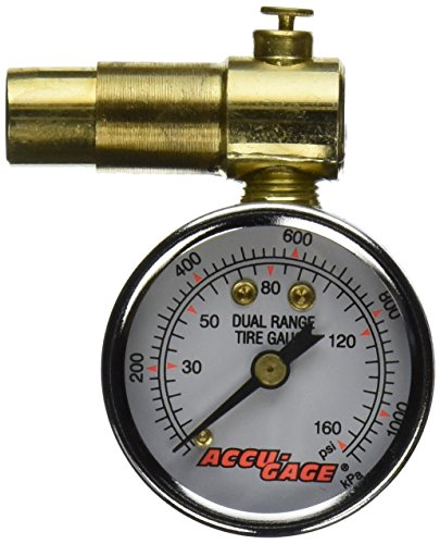 Accu-Gage Bicycle Gauge for Presta Valve (Low Pressure Schrader Valve Gauge compare prices)