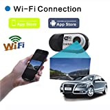 Excelvan® Real-time 140 Degree Wide View Angle Lens Full HD 1080p 10M WiFi Smart Car DVR Wireless Camcorder Recorder for Apple iPhone 6/ iPhone 6 Plus /iPhone 5S/ 5 / 4S /4 iPad Air/Air 2/mini 2/mini 3 + HTC One/One X/One M8 + Samsung Galaxy S5/4, Note 4