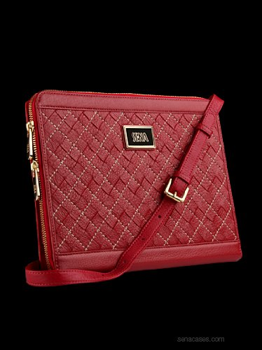 Sena Borsetta Designer Purse / Leather Case for Apple iPad 2, Red