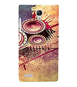 PrintVisa Modern Art Speaker Bass Design 3D Hard Polycarbonate Designer Back Case Cover for Xiaomi Redmi Note Prime