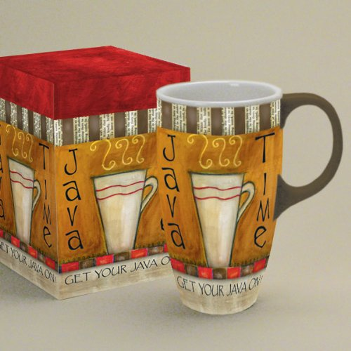 'Java Time' Latte Coffee Mug By Lang With Artwork By Lisa Kaus