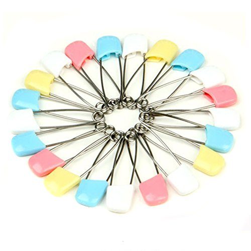 Nsstar Baby Infant Kids Cloth Diaper Nappy Pins Safety Safe Hold Clip Locking Cloth (50PCS) - 1