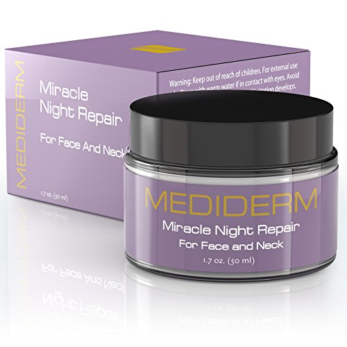 Miracle Night Repair Cream - Best Anti Aging Moisturizer and Anti Wrinkle Cream with Hyaluronic Acid, Vitamin C, Marine Collagen. Daily Moisturizing Treatment for Men and Women (Stee Lauder Cream compare prices)
