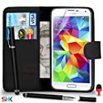 Samsung Galaxy S5 Premium Leather Bla...