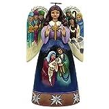 Jim Shore for Enesco Heartwood Creek Nativity Angel-Sculptured Wings Ornament, 4.5-Inch