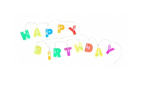 The gallery for --> Happy Birthday String Lights