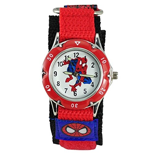 qbd-kids-spider-man-waterproof-spiderman-watch-fast-wrap-strap-boys-girls-children-birthday-gift-wat