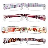 (レサ)恋上 シニアグラス 老眼鏡 携帯用 おしゃれ レディース メンズ ポケット リムレス 1.00 1.50 2.00 2.50 3.00 3.50 4.00 1.25 1.75 2.25 2.75 3.25 3.75[L3220]