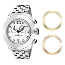 Glam Rock Women?s GR32154 SoBe Chronograph White Dial Stainless Steel Watch