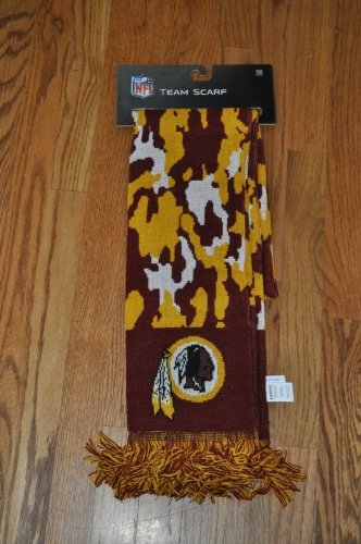 Washington Redskins NFL Camoflauge scarf at Amazon.com