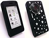 EMARTBUY LG KU990 VIEWTY SILICON CASE/COVER/SKIN BLACK STARS + SCREEN PROTECTOR