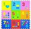 J&Y 1-9 Numbers Soft Puzzle Mats Rugs 30cm x 30cm Inter-Locking Floor Mats for Kids Soft Foam Play Mat Jigsaw Pop-Out Mats