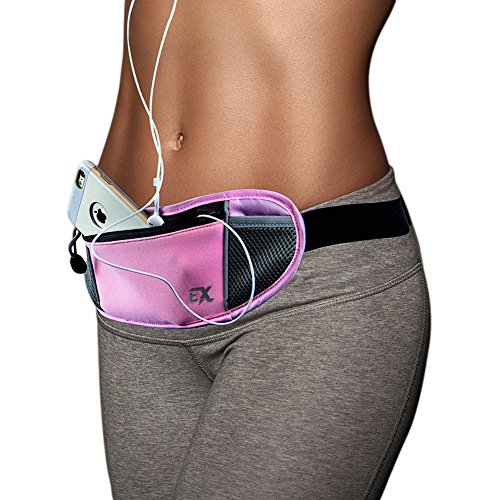 RUNNING BELT - FANNY PACK Designed For Men and Women - Iphone 6 Plus and Android Approved - Divider Pocket to Prevent Scratches - Comfortably Carry Everything You Need (Waist Pack Running compare prices)